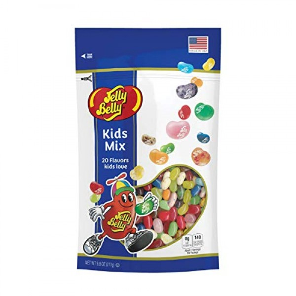 Jelly Belly Kids Mix Jelly Beans, 20 Kid-Friendly Flavors, 9.8-oz