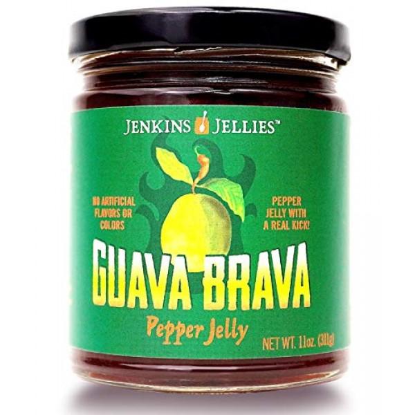 Jenkins Jellies 11oz Guava Brava Regular Jars set Pack of 3, H...