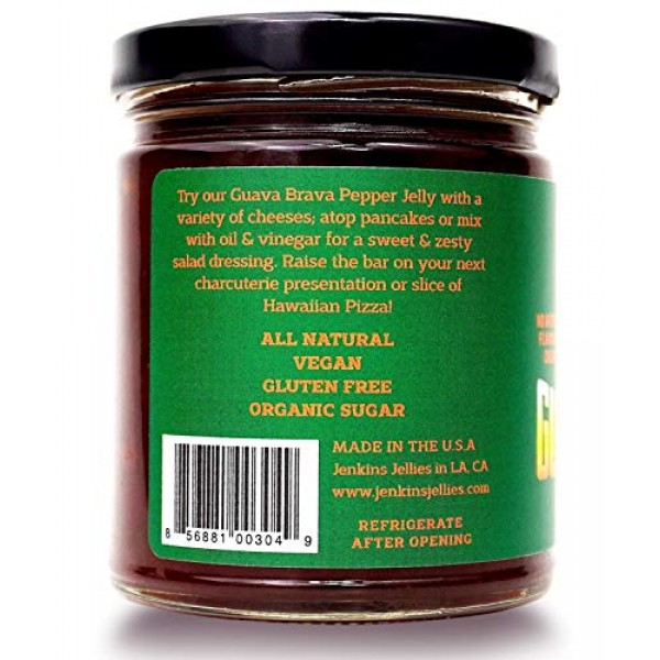 Jenkins Jellies Guava Brava Pack of 2, Hot Pepper Jelly with J...