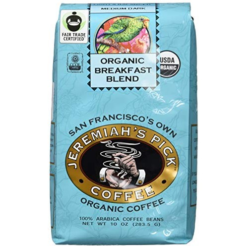 Jeremiahs Pick Coffee Organic Breakfast Blend, Dark Roast Whole...