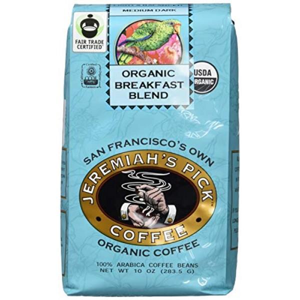 Jeremiahs Pick Coffee Organic Breakfast Blend, Dark Roast Whole...