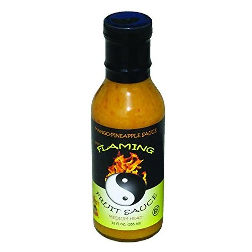 Jessis Flaming Fruit Sauce - Mango-Pineapple - Medium Heat - 12oz