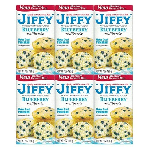 Jiffy, Blueberry Muffin Mix, 7oz Box Pack of 6