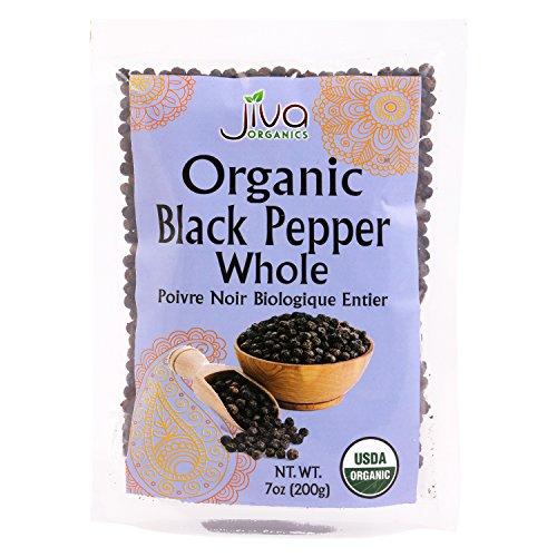 Jiva Organics Black Peppercorns Whole 7 Ounce