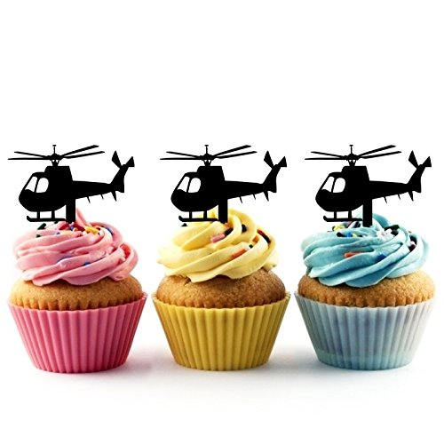 TA0140 Helicopter Silhouette Party Wedding Birthday Acrylic Cupc...