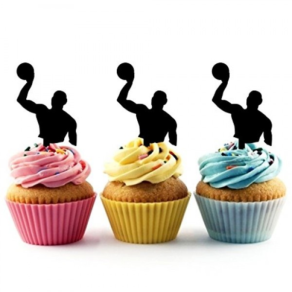 TA0183 Water Polo Player Silhouette Party Wedding Birthday Acryl...