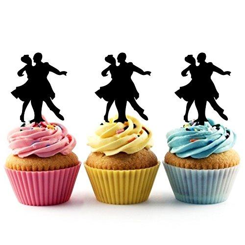 TA0353 Senior Prom Couple Ballroom Dance Silhouette Party Weddin...