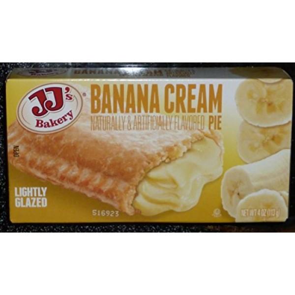 JJs Bakery Lightly Glazed Snack Pies 4oz Pack of 6 Banana Cr...