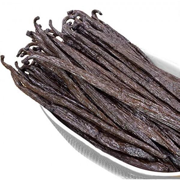 10 Madagascar Vanilla Beans Whole Grade A Vanilla Pods for Vanil...
