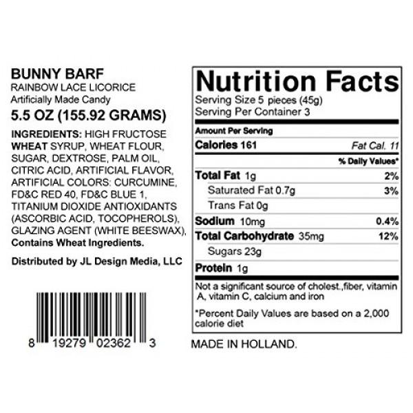 Bunny Barf - Rainbow Lace Licorice - Funny Easter Basket Gag Bir...