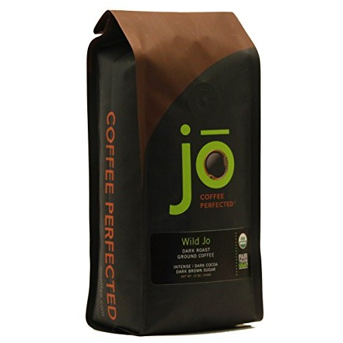 WILD JO: 12 oz, Dark French Roast Organic Coffee, Ground Coffee,...