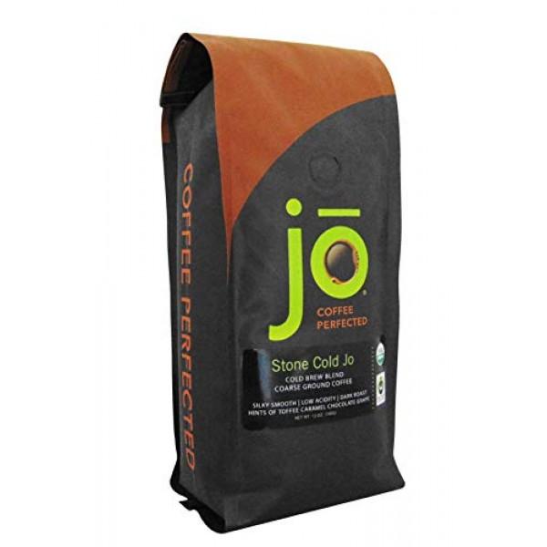STONE COLD JO: 12 oz, Cold Brew Coffee Blend, Dark Roast, Coarse...