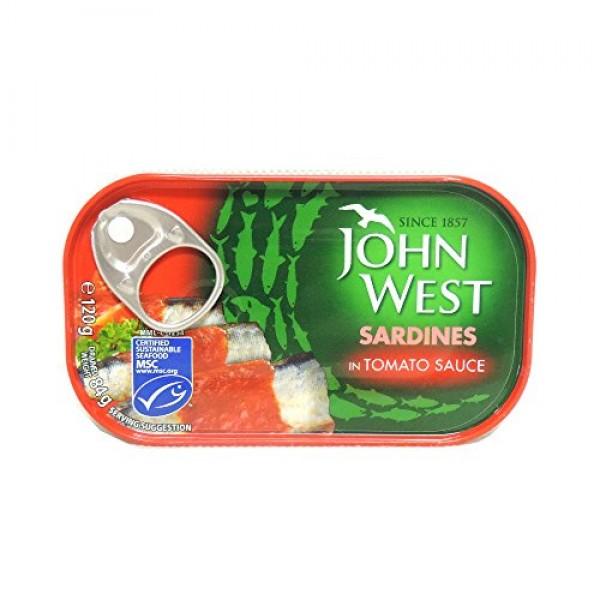 John West - Sardines in Tomato Sauce - 120g Case of 12