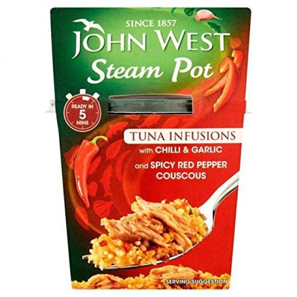 John West Steam Pot Chilli & Garlic - 150g 0.33 lbs