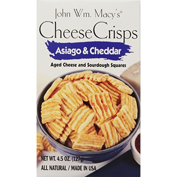 John Wm. Macys Asiago & Cheddar CheeseCrisps, 4.5-Ounce Boxes ...