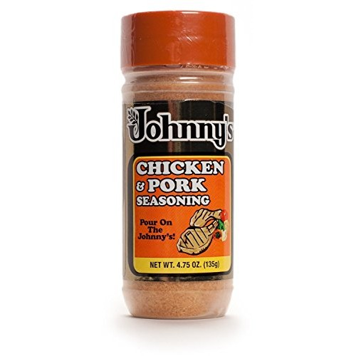 Johnnys Chicken and Pork Seasoning, 4.75 Ounce Pack of 2