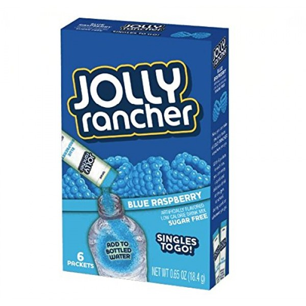 Jolly Rancher Singles To Go Powdered Drink Mix, Blue Raspberry, ...