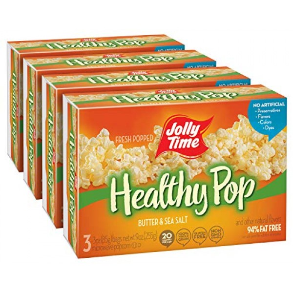 JOLLY TIME Healthy Pop Butter | Low Calorie Lightly Buttered Mic...