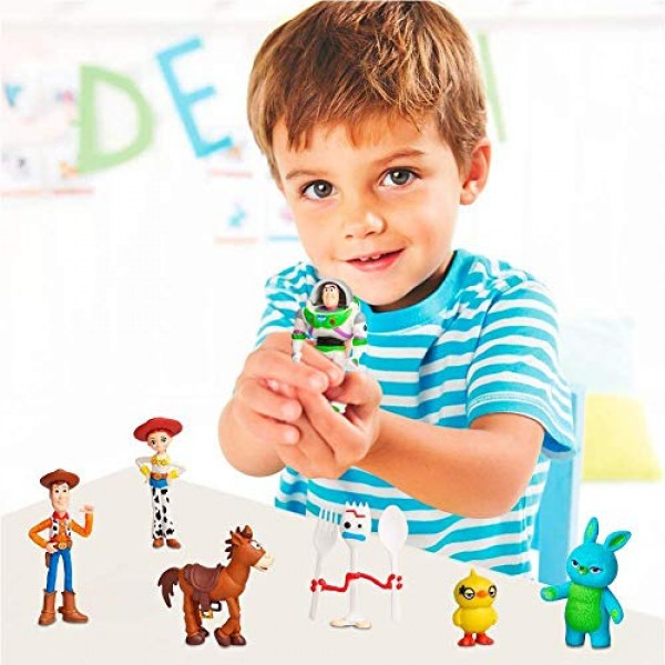 7 PCS Toy Story Cake Toppers mini Figurines Cupcake Decorations ...
