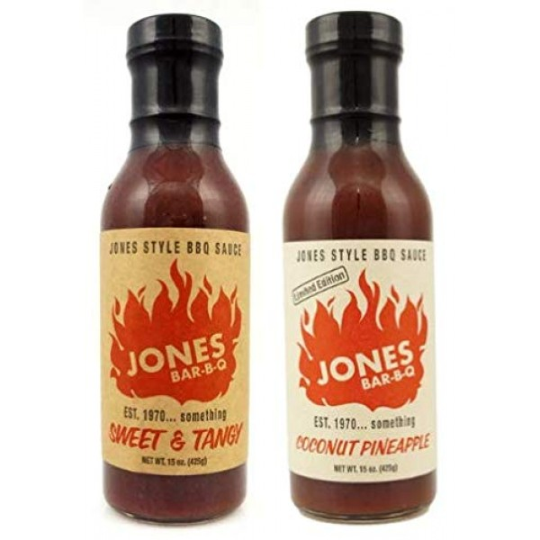 JONES BAR-B-Q - Combo 2 Pack - Original Sweet & Tangy - Limited ...