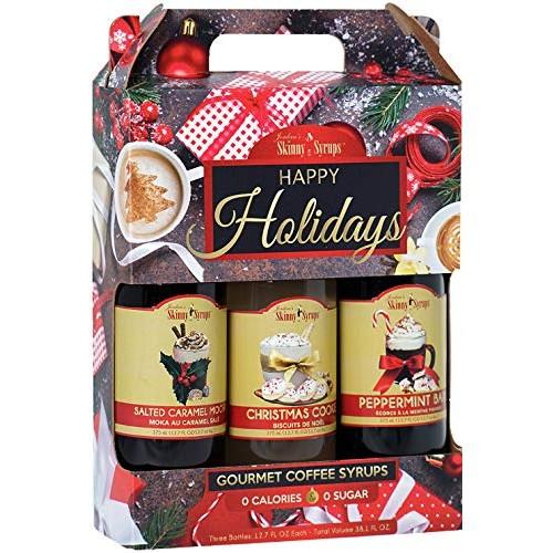 Jordans Skinny Syrups Happy Holidays Gourmet Coffee Syrup Trio:...