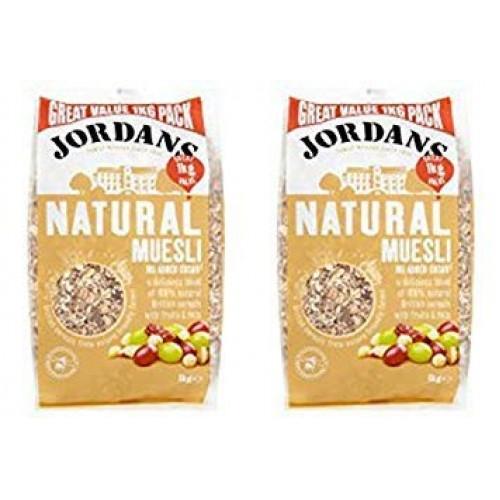2 Pack - Jordans - Natural Muesli   1000g   2 PACK BUNDLE