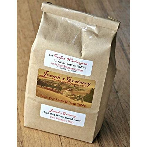 Hard Red Whole Wheat Flour,8 lbs, Josephs Grainery Freshly Grou...