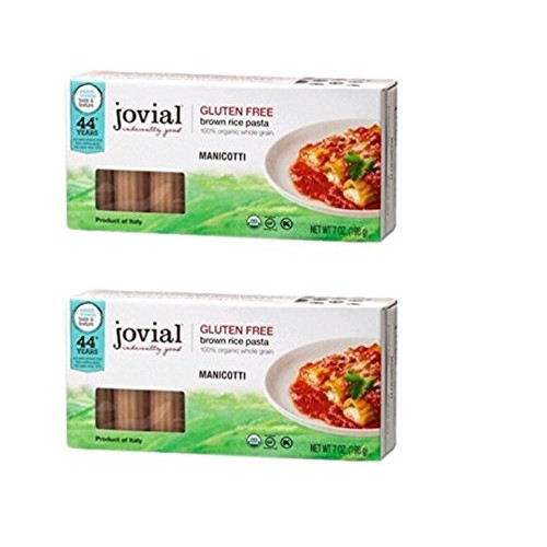 Jovial Organic Gluten-Free Brown Rice Italian Pasta, Manicotti -...