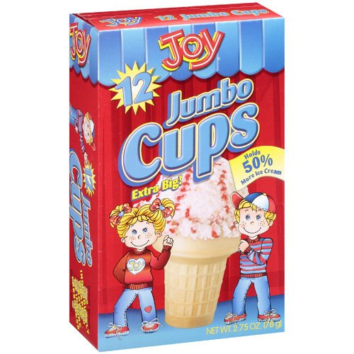 Joy Cone Jumbo Cups, 12 ct