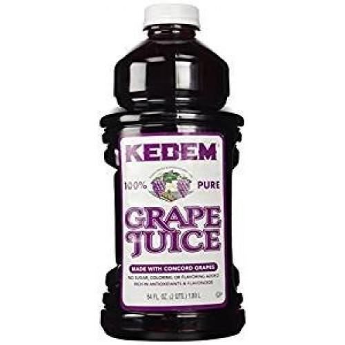 Kedem 100% Pure Grape Juice Gluten Free 64 Oz. Pack Of 6.