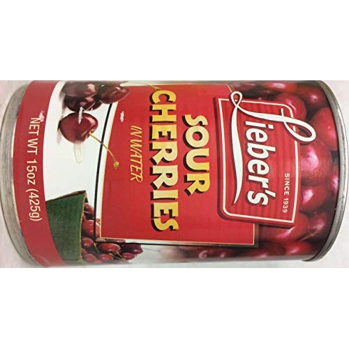 Liebers Sour Cherries In Water Kosher For Passover 15 Oz. Pack ...
