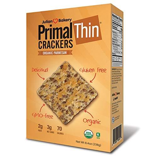Primal Thin Crackers ParmesanOrganicLow Carb, Gluten-Free, ...