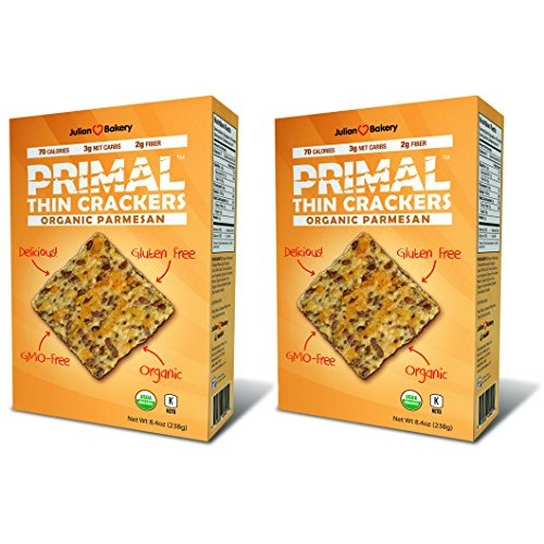 Primal Thin Crackers Organic 2 Pack Low Carb, Gluten-Free, ...