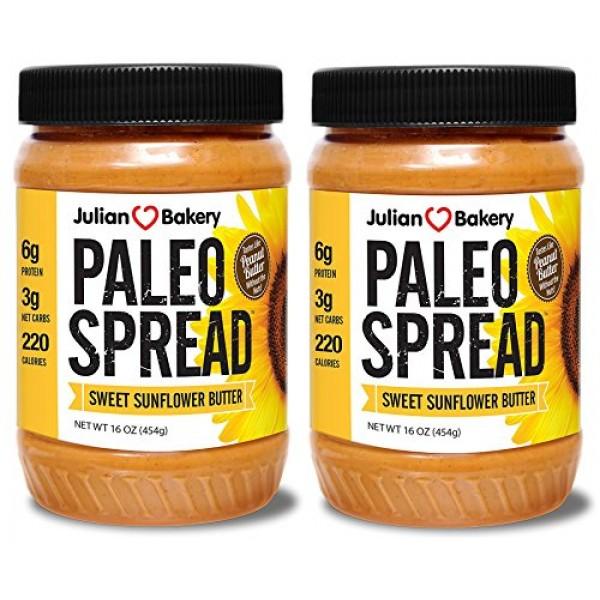 Paleo Spread 2 Pack Sweet Organic Sunflower Butter Nut-Free ...