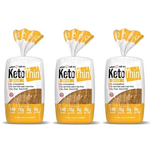 Keto Thin   Bread   1 Carb   Gluten-Free   Grain-Free   0 Net C...