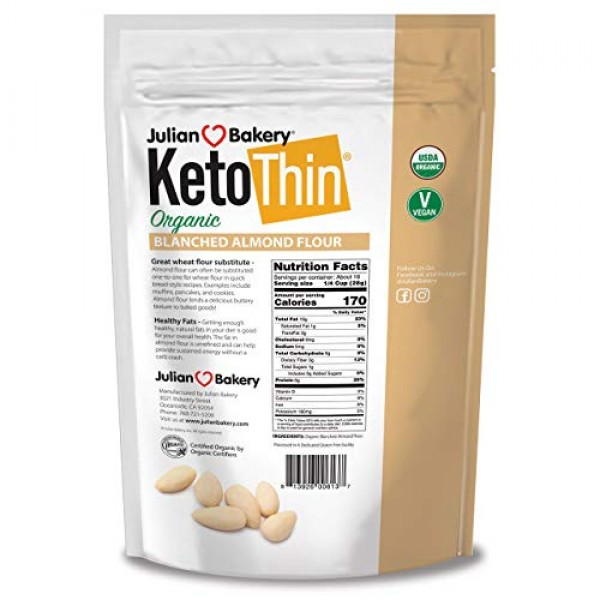 Julian Bakery Keto Thin Organic Blanched Almond Flour 3 lbsLo...