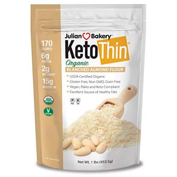 Julian Bakery Keto Thin Organic Blanched Almond Flour 1 lbLow...