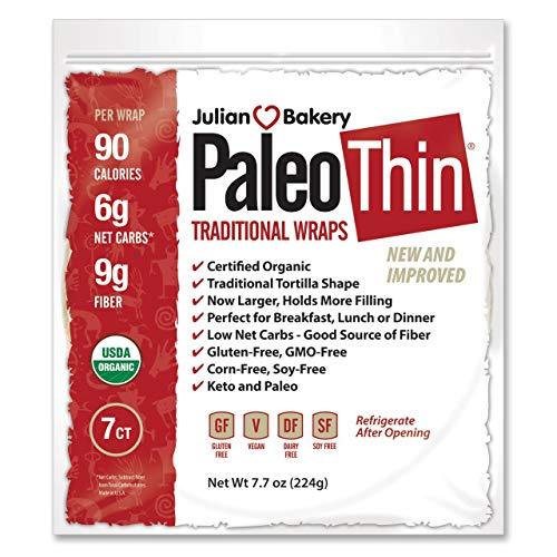 Julian Bakery : Paleo Wraps : Gluten-Free : Grain-Free : 7 Indiv...