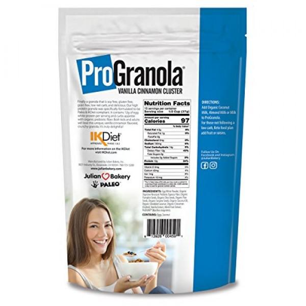 Julian Bakery ProGranola Cereal   Vanilla Cinnamon   12g Protein...