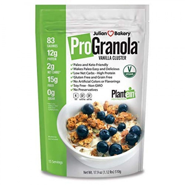 Julian Bakery ProGranola Cereal   Vegan   Vanilla Cluster   12...