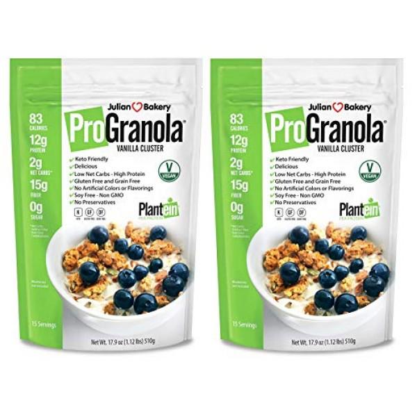 Julian Bakery ProGranola Cereal Vegan   Vanilla Cluster   12g Pr...