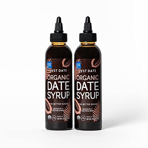 Just Date Syrup - The Better Sugar 2-pack squeeze - Organic, Low...