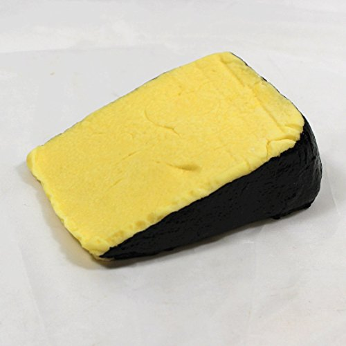 Just Dough It Fake Cheddar Cheese Wedge with Black Rind