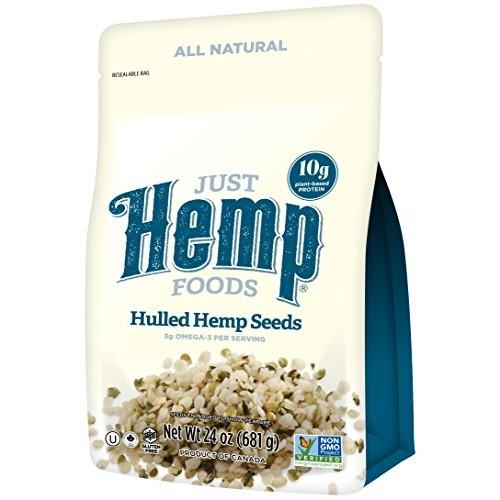 Just Hemp Foods Hemp Hearts Shelf Stable Hemp Seeds, 24oz; with ...