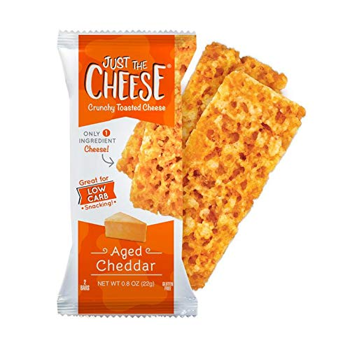 Just The Cheese Bars, Crunchy Baked Low Carb Snack Bars - 100% N...
