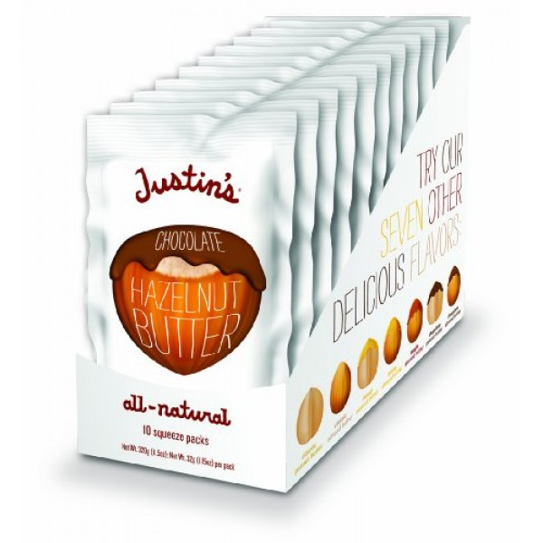 Chocolate Hazelnut Butter Squeeze Packs by Justins, Organic Coc...