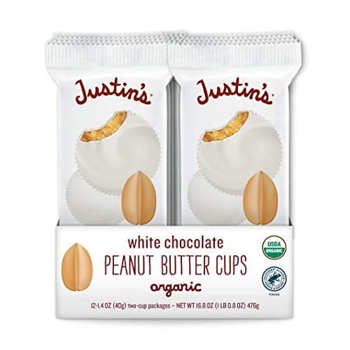 Organic White Chocolate Peanut Butter Cups by Justins, Rainfore...