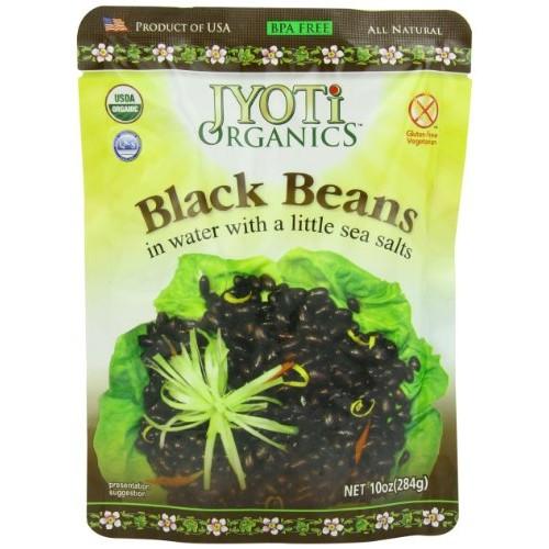 Jyoti Organic Black Beans, 10 Ounce Pack of 6