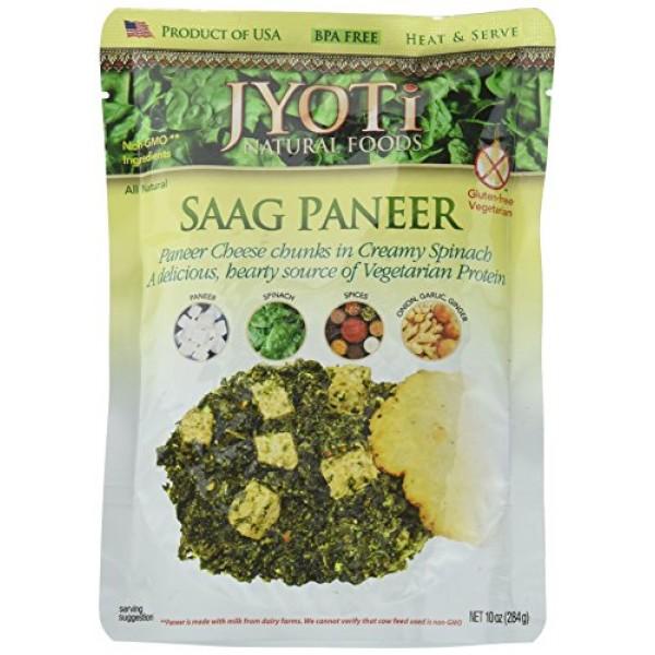 Jyoti Saag Paneer, 10 Ounce Pack of 6