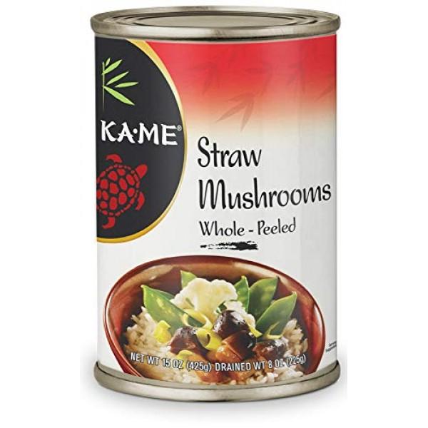 Ka-Me Mushrooms, Peeled, 15 Ounce . Cans, 12 Pack 70742, Whole...